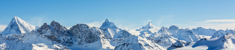 Die Aussicht vom Erner Galen, dort wo Patrizia Ski- und Snowboardfahren gelernt hat.